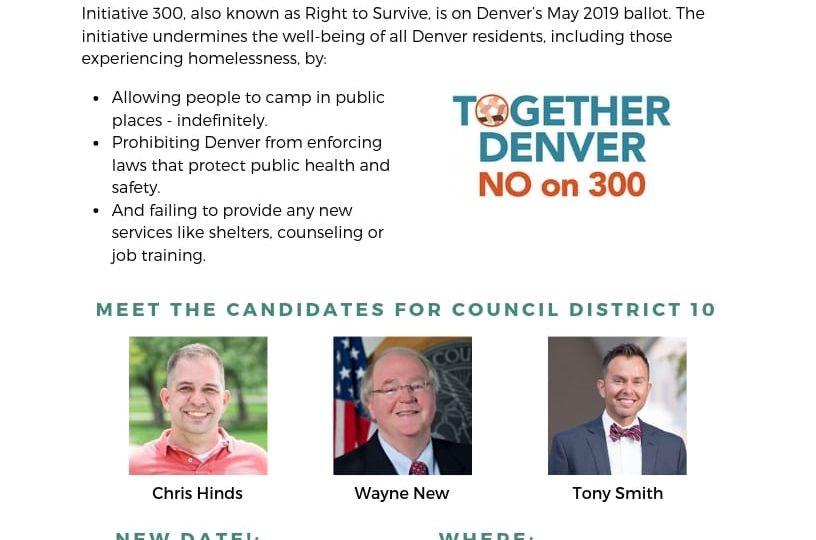 New Date Cherry Creek Election Forum 4.4.19